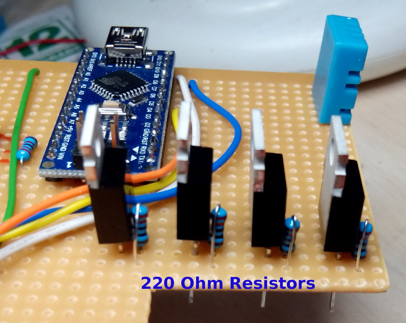 Gate resistors added